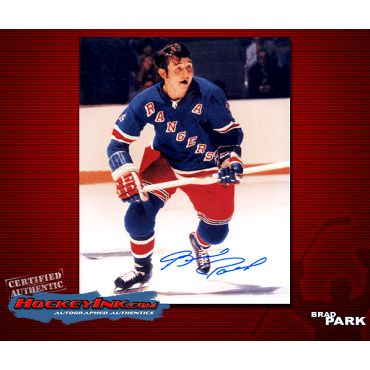 Brad Park New York Rangers Autographed 8 x 10 Photo