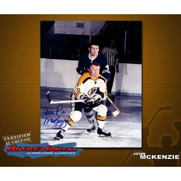 John McKenzie Boston Bruins Autographed 8 x 10 Photo