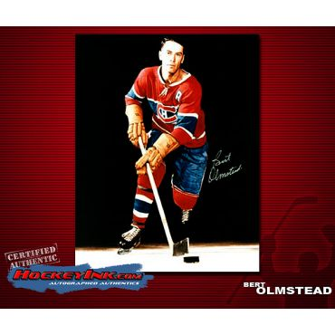 Bert Olmstead Montreal Canadiens Autographed 8 x 10 Photo