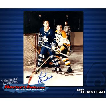 Bert Olmstead Toronto Maple Leafs Autographed 8 x 10 Photo