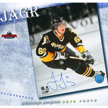Jaromir Jagr Pittsburgh Penguins Autographed 8 x 10 Photo