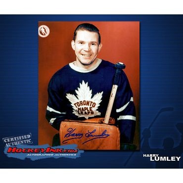 Harry Lumley Toronto Maple Leafs Autographed 8 x 10 Photo