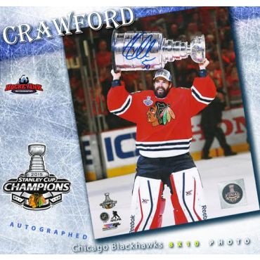 Corey Crawford Chicago Blackhawks Autographed 2015 Stanley Cup 8 x 10 Photo
