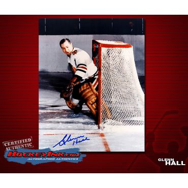 Glenn Hall Chicago Blackhawks Autographed 8 x 10 Photo