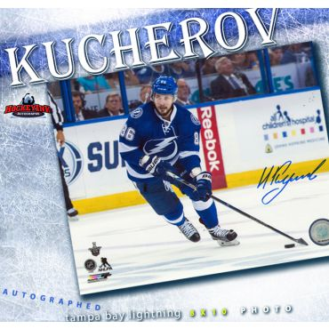 Nikita Kucherov Autographed Tampa Bay Lightning 8 x 10 Photo