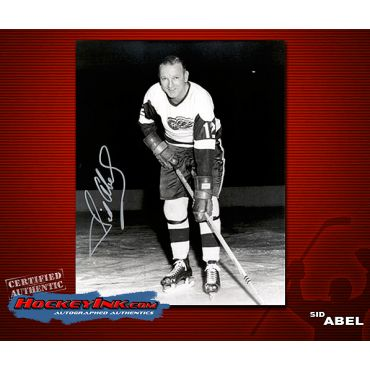 Sid Abel Detroit Red Wings Autographed 8 x 10 Photo