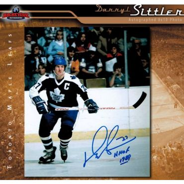 Darryl Sittler Toronto Maple Leafs 8 x 10 Autographed Photo