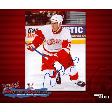 Brett Hull Detroit Red Wings 8 x 10 Autographed Photo