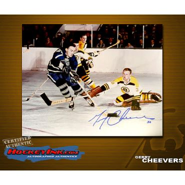 Gerry Cheevers 8 x 10 Autographed Photo