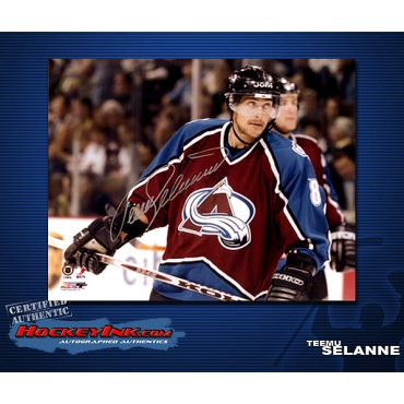 Teemu Selanne Colorado Home Action  8 x 10 Autographed Photo