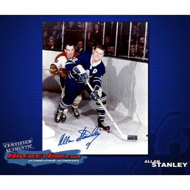 Allan Stanley Toronto Maple Leafs 8 x 10 Autographed Photo