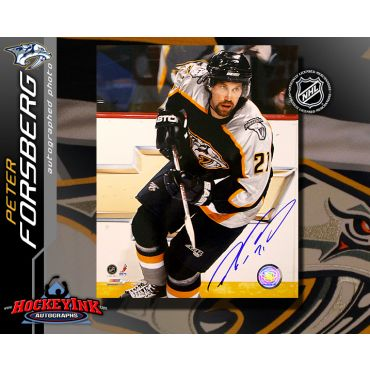 Peter Forsberg Nashville Predators 8 x 10 Autographed Photo