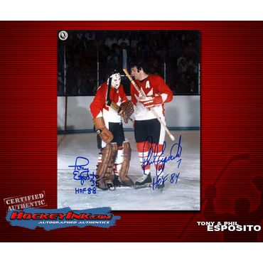 Tony and Phil Esposito Team Canada 8 x 10 Autographed Photo
