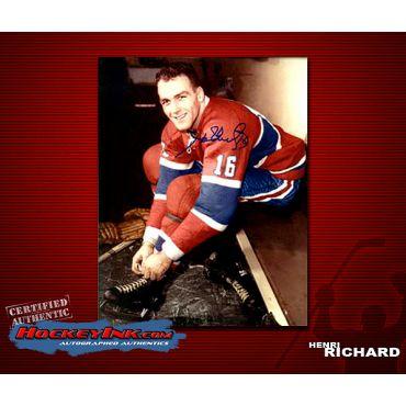 Henri Richard Autographed 8 x 10 Photo