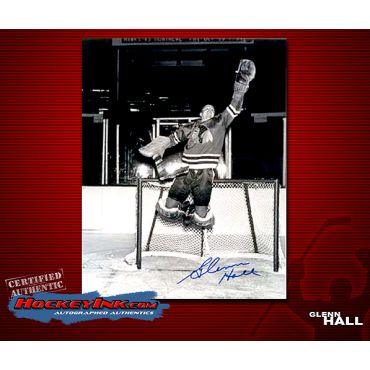 Glenn Hall Blackhawks  Autographed 8 x 10 Photo