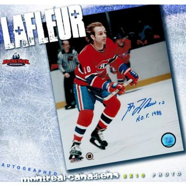 Guy LaFleur Montreal Canadiens 8 x 10 Autographed Photo