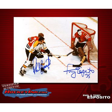 Tony and Phil Esposito 8 x 10 Autographed Photo