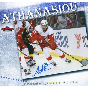 Andreas Athanasiou Detroit Red Wings Autographed Photo