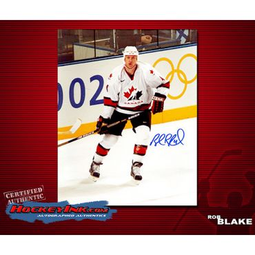 Rob Blake 8 x 10 Team Canada Autographed Photo