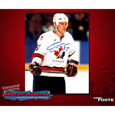 Adam Foote Team Canada 8 x 10 Autographed Photo