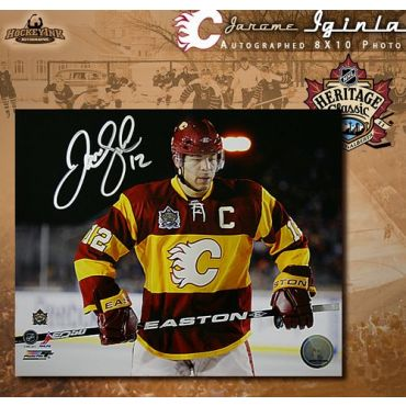 Jarome Iginla Calgary Flames Heritage Classic 8 x 10 Autographed Photo
