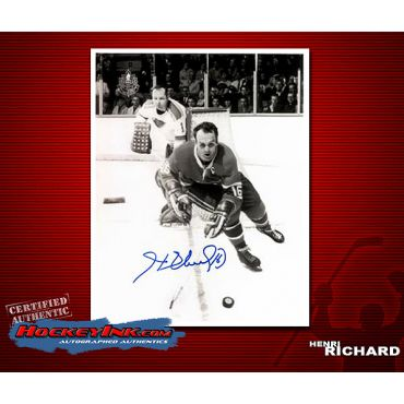 Henri Richard 8 x 10 Autographed Photo