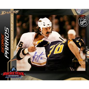 George Parros Anaheim Ducks 8 x 10 Autographed Photo