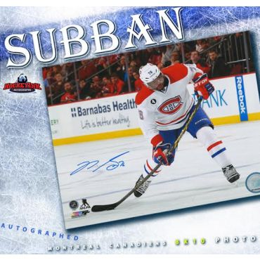 P. K. Subban Montreal Canadiens Autographed 8 x 10 Photo