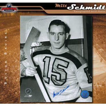 Milt Schmidt Boston Bruins Autographed 8 x 10 Photo
