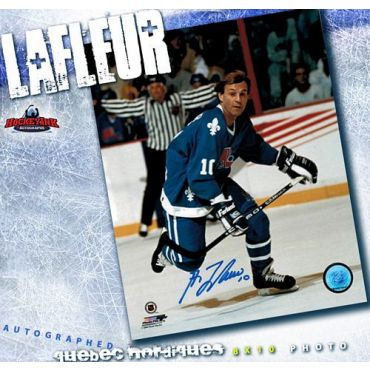 Guy LaFleur Quebec Nordiques Autographed 8 x 10 Photo
