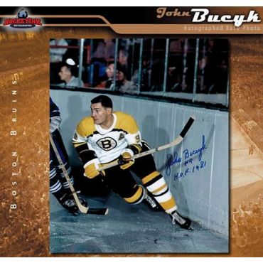 John Bucyk Boston Bruins 8 x 10 Autographed Photo