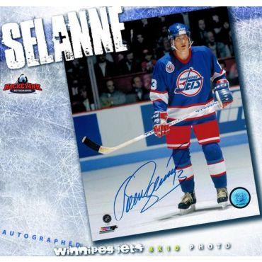 Teemu Selanne Winnipeg Jets Autographed 8 x 10 Photo