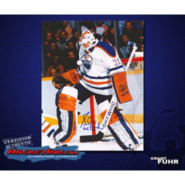 Grant Fuhr Home Action  8 x 10 Autographed Photo