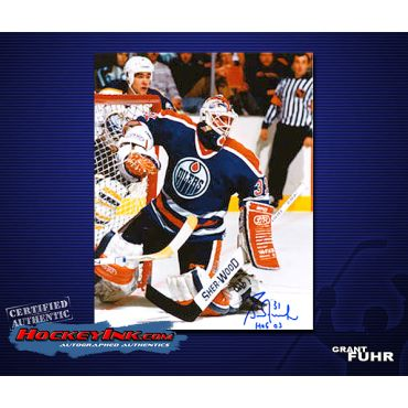 Grant Fuhr Road Action  8 x 10 Autographed Photo
