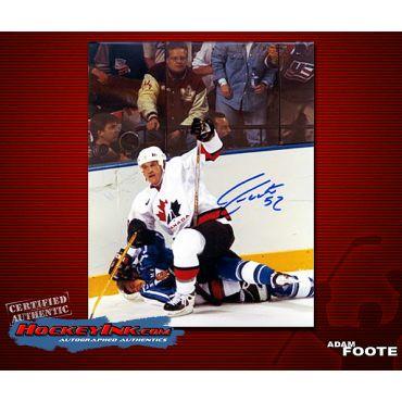 Adam Foote Team Canada 8 x 10 Autographed Photo