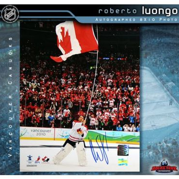 Roberto Luongo Team Canada Autographed 8 x 10 Photo