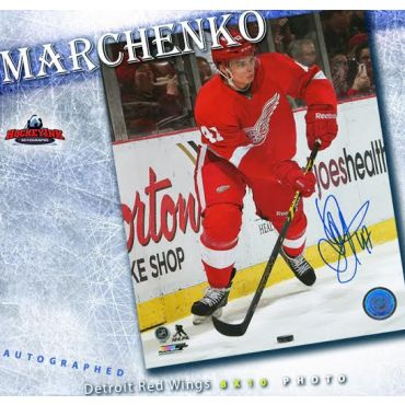 Alexey Marchenko Detroit Red Wings 8 x 10 Autographed Photo