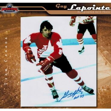 Guy Lapointe Team Canada 8 x 10 Autographed Photo