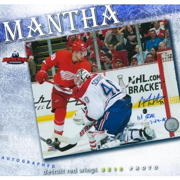 Anthony Mantha Detroit Red Wings Autographed and Incribed 8 x 10 Photo