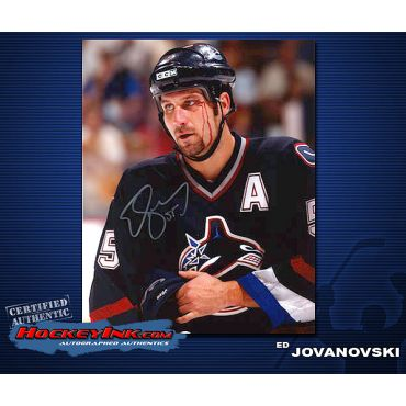 Ed Jovanovski Canucks  8 x 10 Autographed Photo