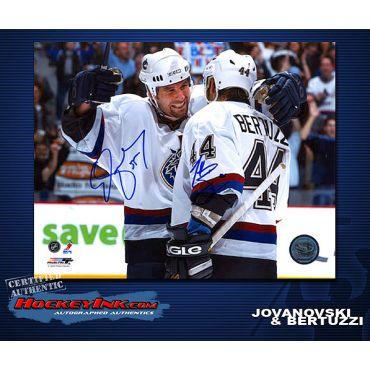 Ed Jovanovski and Todd Bertuzzi Canucks  8 x 10 Autographed Photo