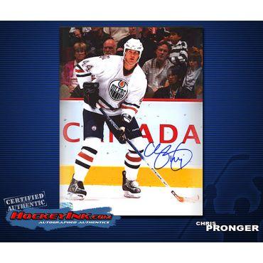 Chris Pronger Oilers  8 x 10 Autographed Photo