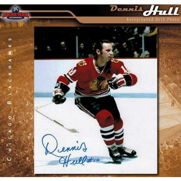 Dennis Hull Chicago Blackhawks 8 x 10 Autographed Photo