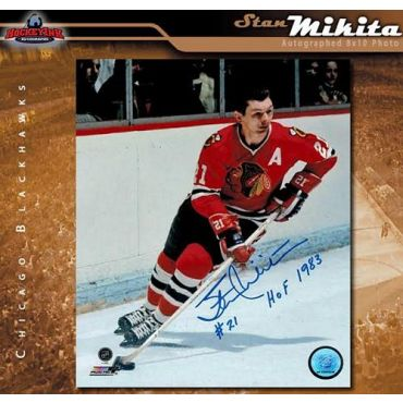 Stan Mikita Chicago Blackhawks 8 x 10 Autographed Photo