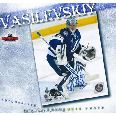 Andrei Vasilevskiy Tampa Bay Lightning Autographed 8 x 10 Photo
