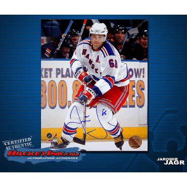 Jaromir Jagr New York Rangers 8 x 10 Autographed Photo