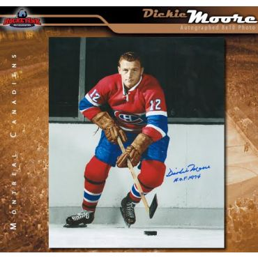 Dickie Moore Montreal Canadiens Autographed 8 x 10 Photo