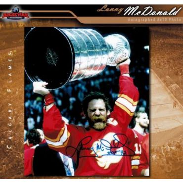 Lanny McDonald Calgary Flames 8 x 10 Autographed Photo
