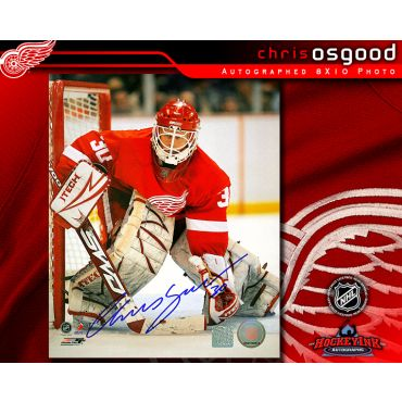 Chris Osgood Detroit Red Wings 8 x 10 Autographed Photo
