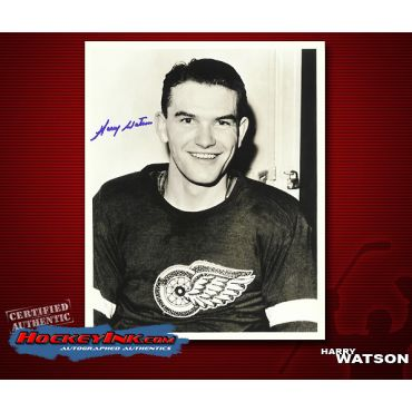 Harry Watson Detroit Red Wings  8 x 10 Autographed Photo